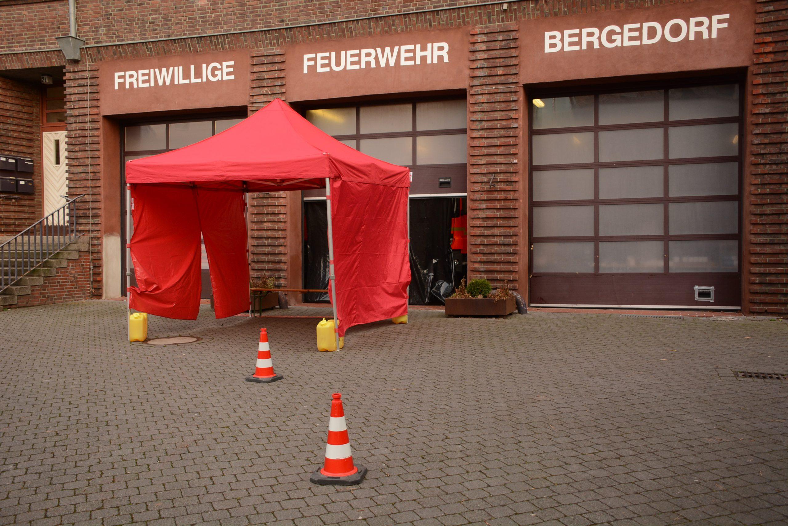 Corona-Schnelltests bei der FF Bergedorf