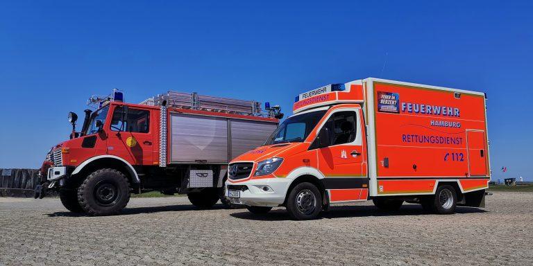 RLF und RTW der Freiwilligen Feuerwehr Neuwerk